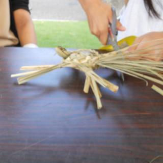 まこも収穫祭 草玩具 亀2.JPG